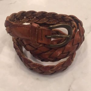 Other - Vintage leather braided belt size 38